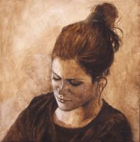 Contemplation-Acrylic Painting by AstridBruning