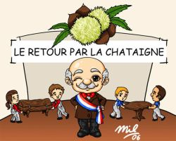 Projet chataigne illustration by honeymil