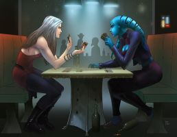 Kelly and Tasha Card Game (Commission) by KaRolding