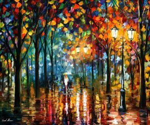 Magic Park by Leonid Afremov by Leonidafremov