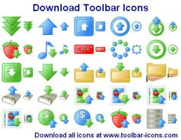 Download Toolbar Icons by Iconoman
