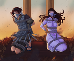 Wander and Mono in Peril by AngelJasiel