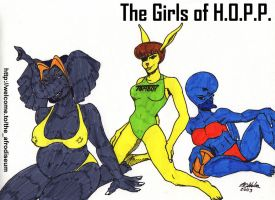 The Girls of H.O.P.P. by NCWeber