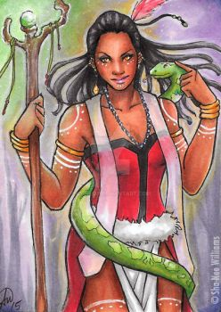Voodoo Priestess Sketchcard by Paine128
