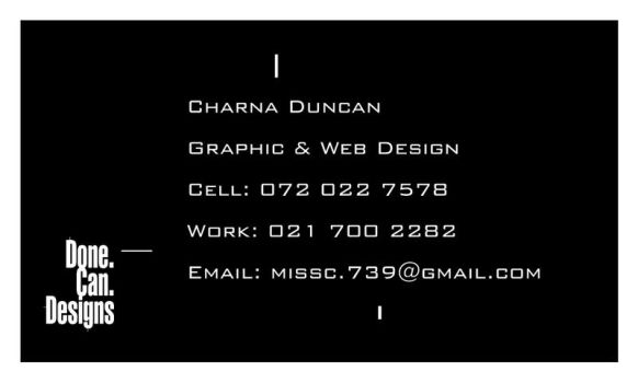 Business Card - Back by MissC4739