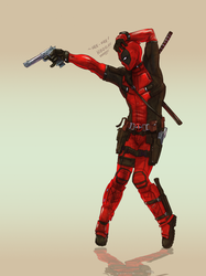 DEADPOOL  the king of POP POP POP!!! by ZachSatherArt