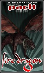Fire Dragon PNG Pack Stock by Alegion-stock
