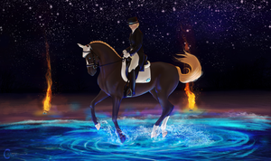 Into the Blue Dressage | Queen by FeatherCandy