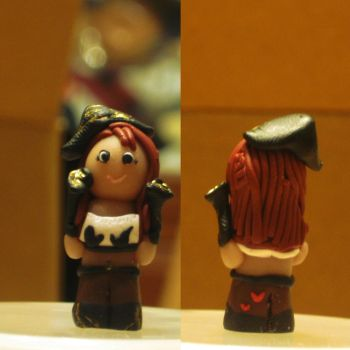 League of Legends Miss Fortune Mini  Polymer Clay by intelectricity