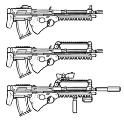 (DH18)Bullpup Assault Rifle Design by maxviolence