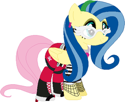 Fluttershy as Ghoulia Yelps by user15432