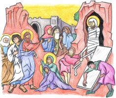 John 11:38-44 (Resurrection of Lazarus) by Parastos