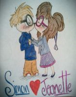Simon and Jeanette by CartoonBoyfriends