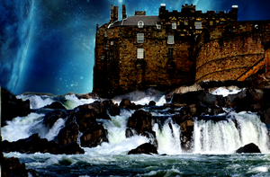 Waterfall Castle by Extince