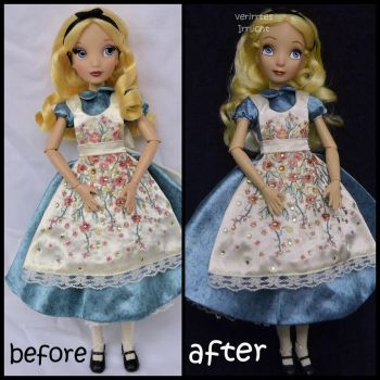 repainted ooak limited edition designer alice doll by verirrtesIrrlicht