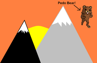 Pedo Bear at Sunset by nomiverly110