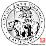 Great Seal of the Republic of California by SouthParkTaoist