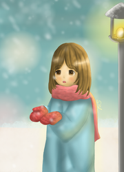 It's snowing!! by Soleaf10