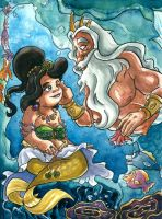 Adella's and King Triton's Daddy Daughter Moment by Tabascofanatikerin