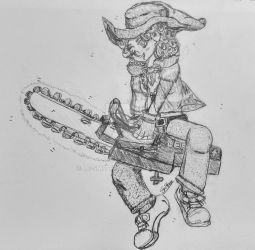 Chainsaw Witch WIP by Le-Smittee