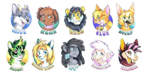 Small Head Badges by Tigsie