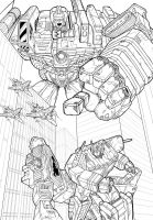Lookout Optimus! (Lines) by J-Rayner