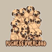 Pugness Overload by Vangega
