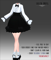 Lolita Dress -DOWNLOAD- by YukinoSama27
