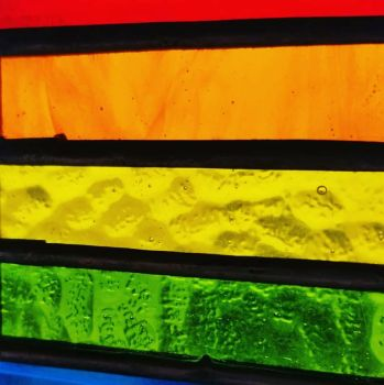 Stained glass rainbow  by Steamify