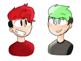 Mouse draw is hard | Markiplier and Jacksepticeye by Puppyrelp
