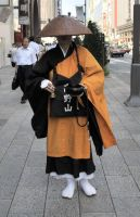 Ginza Begging Monk by AndySerrano