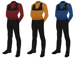 Class A Starfleet Uniform, Officer's waistcoat by JJohnson1701