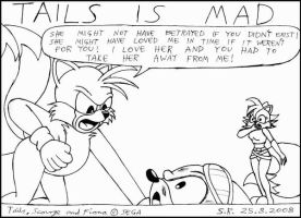 Tails Is Mad With Scourge by Megamink1997