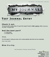 Torn Paper Journal CSS by jonathoncomfortreed
