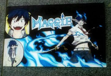 Name Banner: Blue Exorcist by StrixArt