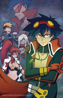 Gurren Lagann - Pierce the Heavens by marcotte