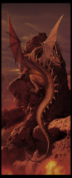 Earth and Fire  - Dragon Art - by wallace