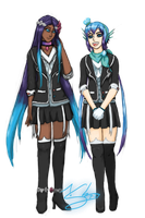 Vocaloid Collab- The Lapis Sisters by LluhnarDragon