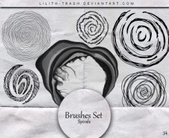 Spirals Brushes 34 by LilithDemoness