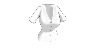 MMD Female button up shirt by mbarnesMMD