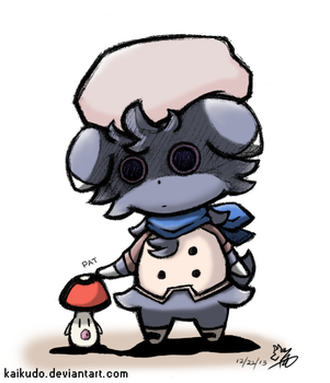 Touch Detective - Espurr and Foongus by KaiKudo