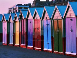 Beach huts by rotellaro