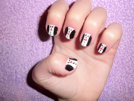 penguins nails by KiaReginaDellaFollia