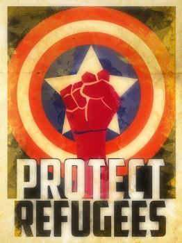 Heroes Protect - Captain America - Refugees by KerrithJohnson