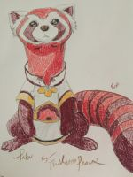 Pabu The Fire Ferret by FireNationPhoenix