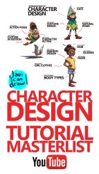 CHARACTER DESIGN TUTORIAL MASTERLIST on YouTube by javicandraw