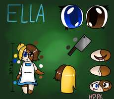 Creepypasta Oc - Ella's reference (Old) by HopefulEntertain