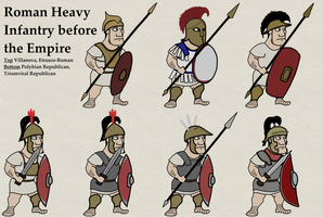 pre-Imperial Roman Heavy Infantry by foojer