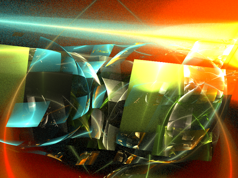 Fractured Lens Flare by BlueDisciple
