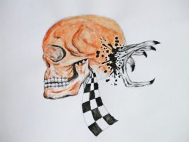 Skull :abstract surreal by Toxic-waste-of-life